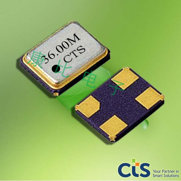 CTS晶振,智能电子晶振,416压电石英晶体